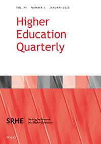 Higher Education Quarterly - SRHE Publication